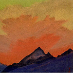 Roerich N.K. (Part 5) - Himalayas # 54 glow over the mountain peaks