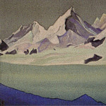 The Himalayas # 156 The Glacier at Dawn, Roerich N.K. (Part 6)