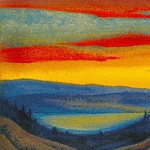 Himalayas # 37 Anxious flame of the sunset, Roerich N.K. (Part 6)