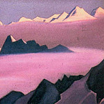 The Himalayas # 120 Lilac fog, Roerich N.K. (Part 6)