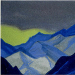 The Himalayas # 100 The skylight of the yellow sky in the mountains, Roerich N.K. (Part 6)