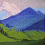 Roerich N.K. (Part 5) - Himalayas # 191 Green slopes and eternal snow