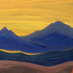 Roerich N.K. (Part 6) - Evening # 45 evening (Amber sky)