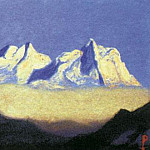 The Himalayas # 174 Two snowy peaks, Roerich N.K. (Part 6)