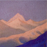 Roerich N.K. (Part 5) - Sunset # 115 (Snowy peaks at dawn)