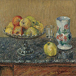 Fruit Bowl with Apples and a Jug, 1903, Gustave Loiseau