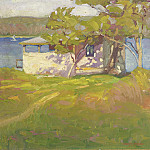 Картины с аукционов Sotheby's - Harry Stinson - Boathouse at Laurelton Hall, 1925