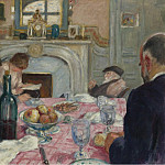 Картины с аукционов Sotheby's - Albert Andre - After Breakfast in Renoirs House, 1917