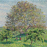 Картины с аукционов Sotheby's - Alfred Sisley - Great Nut-Tree in Spring, Eragny, 1894