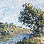 Sotheby's - Alfred Sisley - The Road to Veneux and the Side of the Hill, 1881