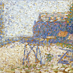 Sotheby's - Georges Seurat - The Hospice and a Lighthouse of Honfleur, 1886