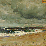 Sotheby's - Jean Baptiste Olive - Storm Clouds over a Jetty