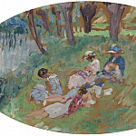The Lebasque Family near the Water, 1917, Анри Лебаск