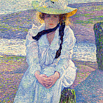 Sotheby's - Theo van Rysselberghe - Young Woman on the Sand Shore, 1901