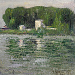 Картины с аукционов Sotheby's - Gustave Loiseau - The Banks of the Seine, Triel, 1913