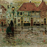 Sotheby's - Henri Le Sidaner - The Square of Ecluse, Sluis, 1899
