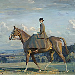 Sotheby's - Alfred James Munnings - Portrait of Lady Barbara Lowther on Horseback