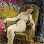 Nude in Armchair, Анри Лебаск