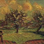 Картины с аукционов Sotheby's - Armand Guillaumin - Landscape at Ile-de-France, 1885