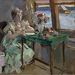 Картины с аукционов Sotheby's - Constantin Korovin - By the Window