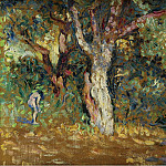 Картины с аукционов Sotheby's - Henri Edmond Cross - Thicket with Female Nude (study)
