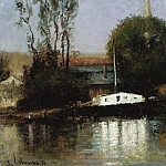 Sotheby's - Albert Lebourg - A Boat on the Seine, 1871