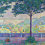 Картины с аукционов Sotheby's - Paul Signac - Terrace of Meudon, 1899