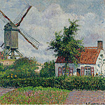 The Windmill at Knokke, 1894, Camille Pissarro