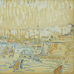 Картины с аукционов Sotheby's - Paul Signac - The Port of Marseille, 1904