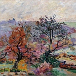 Картины с аукционов Sotheby's - Armand Guillaumin - View of Crozant, 1900