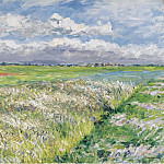 The Plain of Gennevilliers, Etude in Yellow and Green, 1884, Gustave Caillebotte