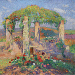 Картины с аукционов Sotheby's - Henri Martin - The Arbour in the West from Marquayrol, Autumns Beginning