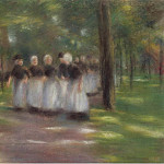 Sotheby's - Max Liebermann - Sunday Afternoon in Laren-Alley with Girls, 1897