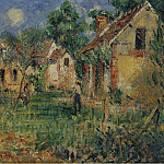 Картины с аукционов Sotheby's - Gustave Loiseau - Small Farm in the Outskirts of Caen, 1928