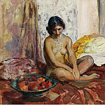 Sotheby's - Henri Lebasque - Egyptian Woman with the Dish of Fruits, 1931