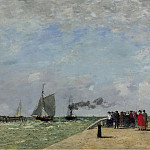 The Pier in Havre, 1868, Эжен Буден