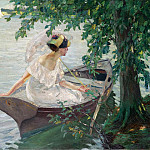 Sotheby's - Edward Cucuel - An Outing by Boat, 1917