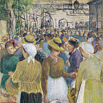 Sotheby's - Camille Pissarro - Poultry Market at Gisors, 1890