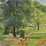 Flower Terrace, Wannsee Garden to the East, 1923, Max Liebermann