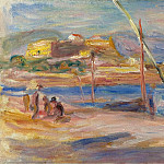 Sotheby's - Pierre Auguste Renoir - Fort Carre at Phare of Antibes, 1916