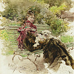 Картины с аукционов Sotheby's - Giovanni Boldini - In the Park
