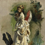 Sotheby's - Pierre Auguste Renoir - Young Woman with a Parasol, 1868