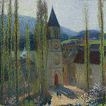 Картины с аукционов Sotheby's - Henri Martin - The Church of Labastide-du-Vert, Late Afternoon