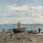Seashore at Saint-Adresse, 1894, Eugene Boudin