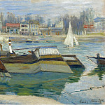 The Boats in Asnieres, 1873, Клод Оскар Моне