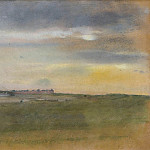 Sotheby's - Edgar Degas - Landscape, the Sunset, 1869
