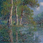 Картины с аукционов Sotheby's - Gustave Loiseau - The Bend of the Eure, 1913