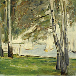 Sotheby's - Max Liebermann - Birch Trees on the Banks of Wannsee, to the East, 1924