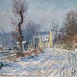 The Road at Giverny in Winter, 1885, Claude Oscar Monet