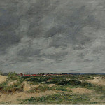 Картины с аукционов Sotheby's - Eugene Boudin - The Dunes at Berck, 1886